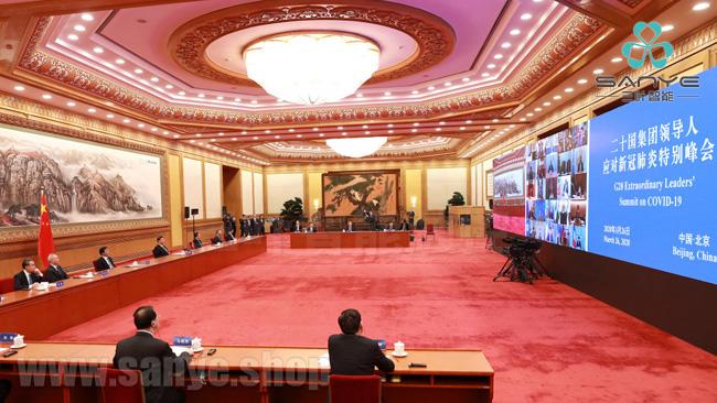 <b>在G20视频峰会出现的多媒体会议平板</b>